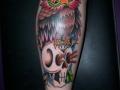 owl-on-the-skull-tattoo