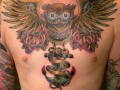 owl-with-anchor-chest-tattoo
