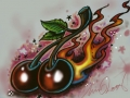 flamin_cherries_by_chrisxart