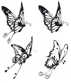 tribal tattoo designs butterfly back lower » Butterfly butterfly tattoos Tattoo bw