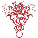 Tribal Dragon Tattoo 4