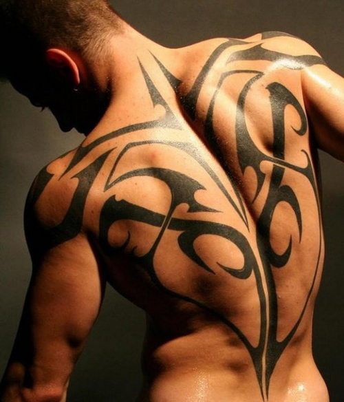 Big Tribal Ornament Tattoo