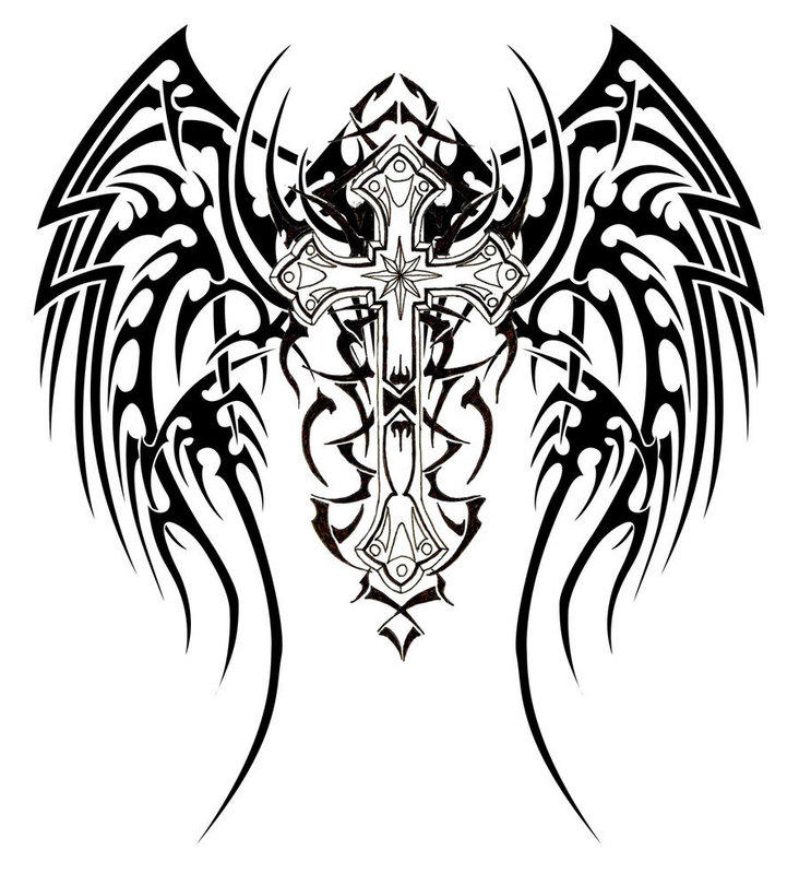 Please find the most unique t ribal cross tattoos and tr ibal dragon ...