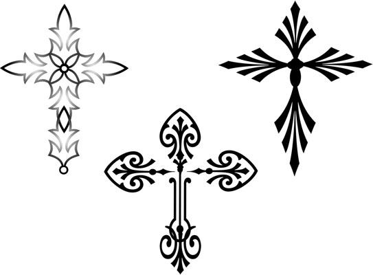 various cross tattoos