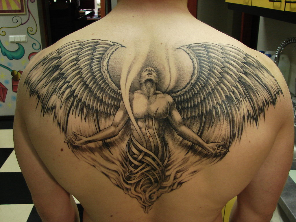 Tattoos for men  Eagle Wings Back
