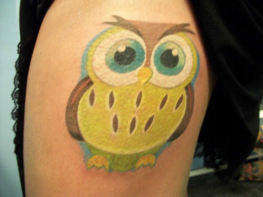 fat owl tattoo