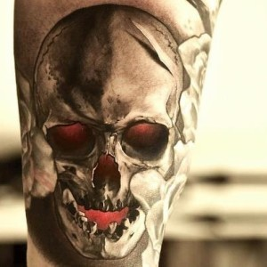 best-skull-tattoo-with-shading