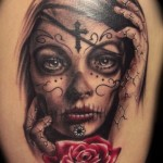 sugar-skull-tattoo-girl